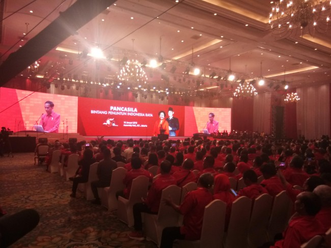 佐科威总统出席斗争民主党 45 周年建党纪念活动