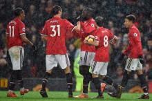 英超第 23 轮 :曼联主场 3-0 击败斯托克城