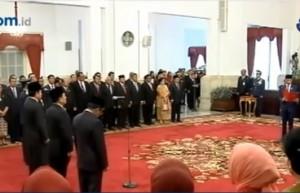 佐科威总统今天宣布新任部长