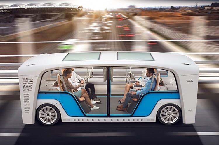 无人驾驶车在美拉斯维加斯消费电子展亮相