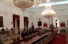 佐科威总统今天招待哈萨克斯坦议会参议院