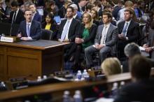 脸书创办人扎克伯格出席美国会听证会上道歉