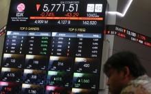 印尼市场周二收盘涨跌不一      中国股市下滑