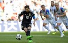 世界杯 : 阿根挺 1-1 冰岛      丹麦险胜秘鲁