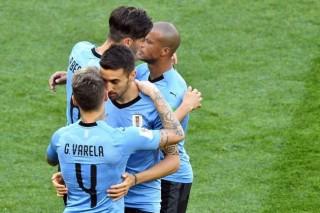 世界杯 : 葡萄牙胜摩洛哥     乌拉圭苏亚雷斯一球击败沙特