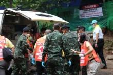 被困泰国少年足球队员援救行动留下悲剧     最新消息称第 5 名少年被救出