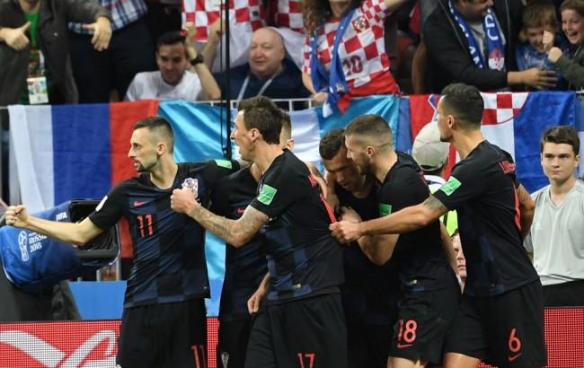 世界杯半决赛 :  克罗地亚 2-1 英格兰进决赛