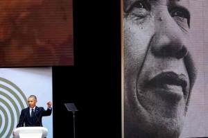 奥巴马纳尔逊•曼德拉 100 周年诞辰发表致词    美媒称讽刺特朗普