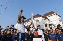 亚运会火炬全国巡游今天向玛琅市动身