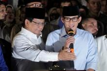 2019 印尼总统选举 : 普拉伯沃和搭档进行大选注册
