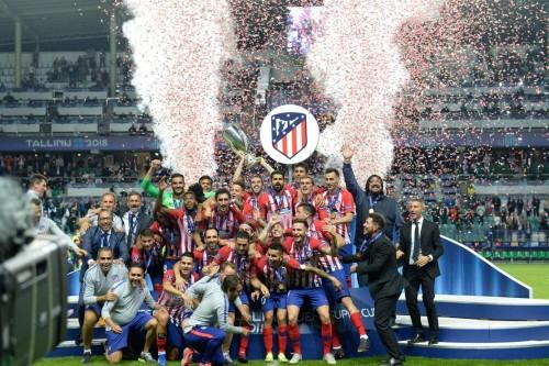 欧超杯 :  马竞加时 4-2 皇马夺冠