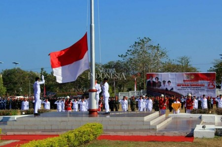 印尼各地举行 73 周年庆祝活动(组图)