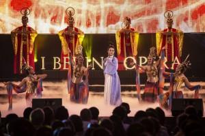 中国京剧艺术家储兰兰在雅加达举办印中文化新京剧演出