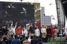 大选委员会举办 2019 年大选和平竞选宣告活动   :   各党表达和平竞选承诺