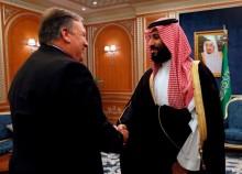 美国务卿就沙特失踪事件会面国王萨勒曼