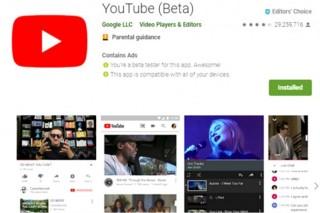 谷歌提供 Beta 版安卓 Youtube