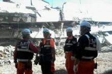 韩国 SAR 队帮助中苏拉威西灾区援救工作