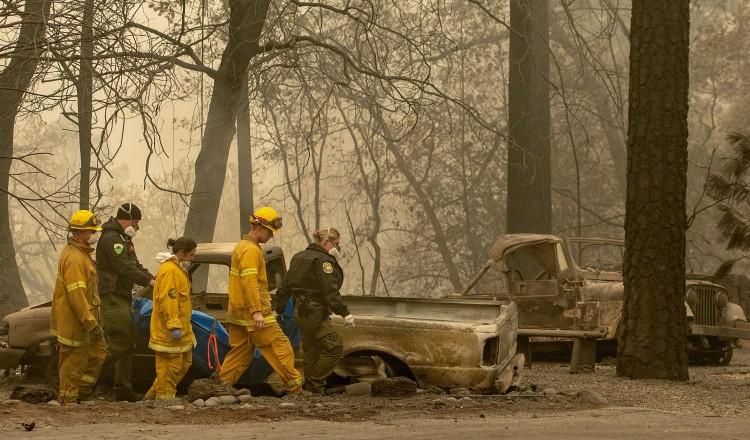 美加州森林大火已致 59 死 130 失踪