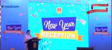 中国驻东盟使团与印尼媒体迎新年
