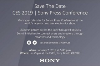 索尼公布 2019 年 CES 发布会