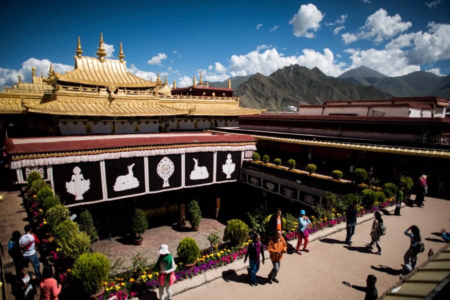 Jokhang Temple in the regional capital Lhasa, in China Tibet Autonomous Region. (AFP PHOTO / JOHANNES EISELE)