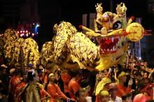 山口洋市举行游街活动迎接元宵节
