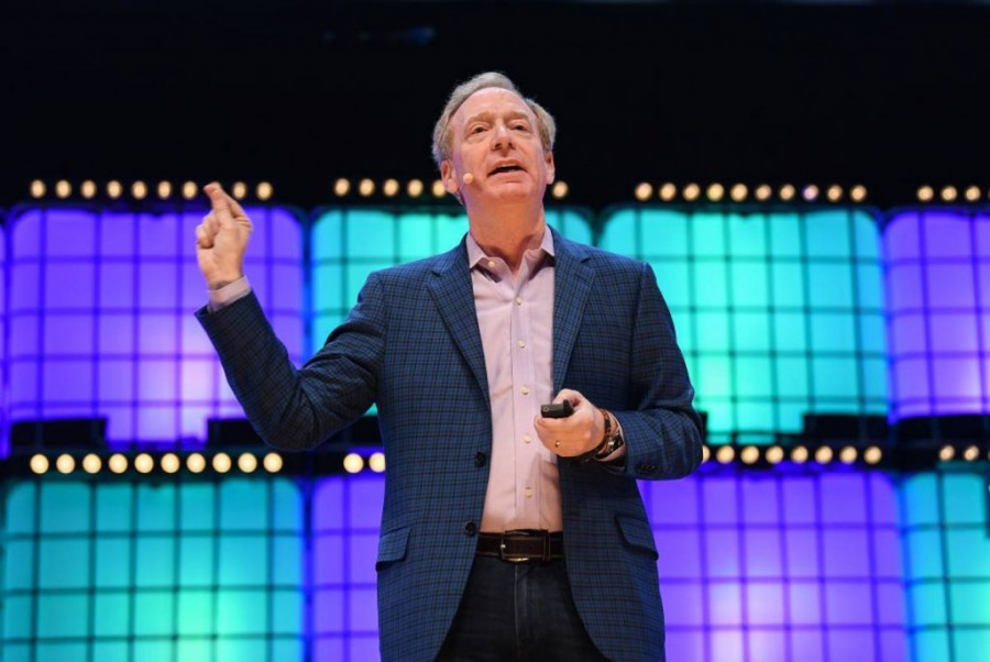 President and Chief Legal Officer Microsoft, Brad Smith.