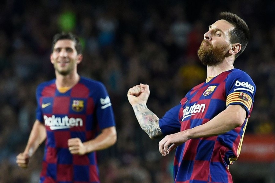 Barcelona 4-0 Sevilla (AFP/Josep Lago)