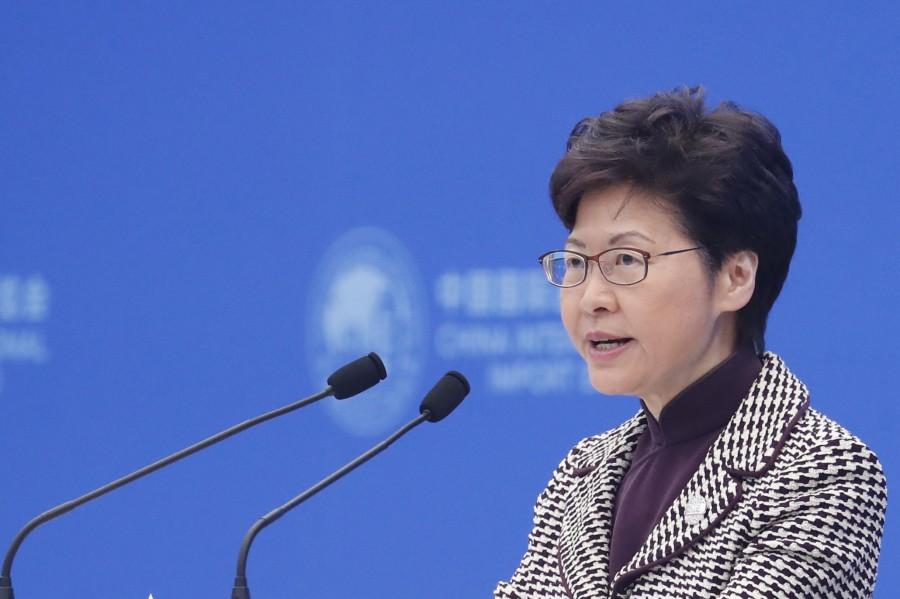 Hong Kong leader Carrie Lam (photo : AFP)