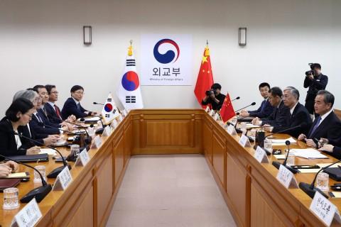 中国外交部称中韩同意谋划好下阶段重要高层交往