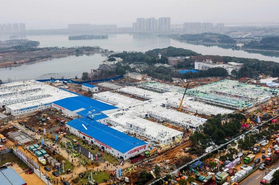 Huo Shen Shan Hospital, Wuhan (photo : AFP)