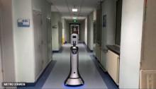 中国医院使用机器人为患者提供医护服务