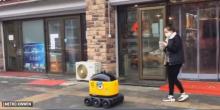 中国一家制造业生产能运送物品的机器人