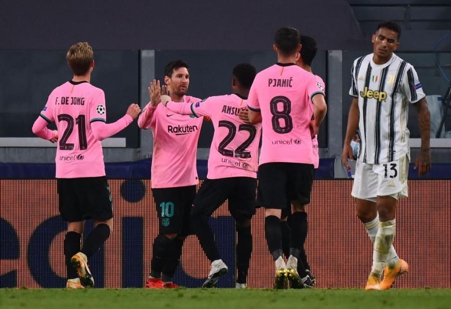 Juventus 0-2 Barcelona. (Photo: AFP/Marco Bertorello)
